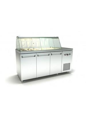 Ψυγείο Σαλάτας με 2 σειρές Λεκανάκια και Μηχανή
