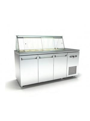 Ψυγείο Σαλάτας με 1 σειρά Λεκανάκια και Μηχανή
