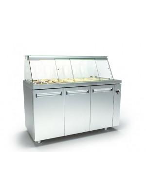 Ψυγείο Σαλάτας με 2 σειρές Λεκανάκια και Πάνελ