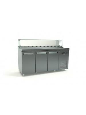 Ψυγείο Saladette με 1 σειρά Λεκανάκια  και Μηχανή