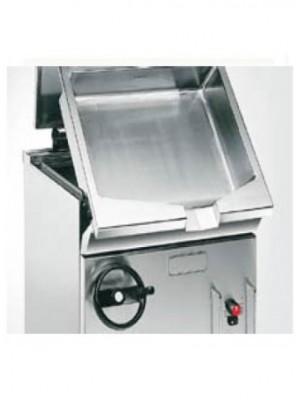 Ανατρεπόμενο τηγάνι αερίου με χειροκίνητη ανατροπή, κάδος ΙΝΟΧ AISI430 54lt Angelo Po