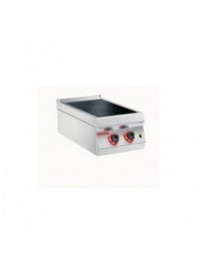 Ηλεκτρική κεραμική κουζίνα ενιαίας πλάκας 2 εστιών Angelo Po