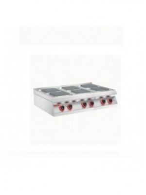 Κουζίνα ηλεκτρική 6 εστιών (τετράγωνες) 23x23 Angelo Po