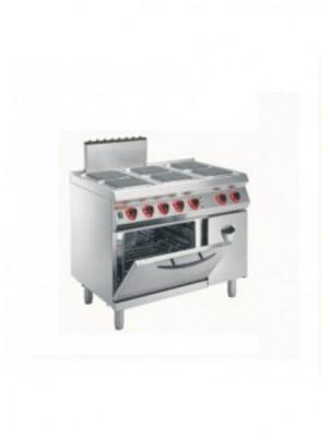 Κουζίνα ηλεκτρική 6 εστιών (τετράγωνες) 23Χ23