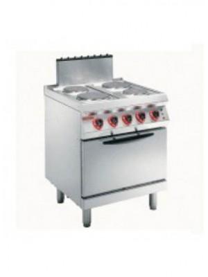 Κουζίνα ηλεκτρική με 4 εστίες και φούρνο convection