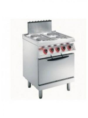 Κουζίνα ηλεκτρική με 4 στρογγυλές εστίες και ηλεκτρικό φούρνο