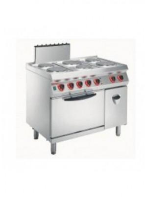 Κουζίνα ηλεκτρική με 6 εστίες και φούρνο ηλεκτρ-convection