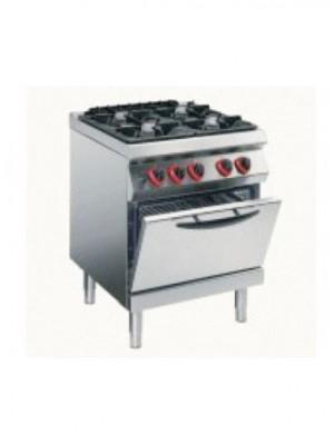Κουζίνα αερίου 4 εστιών με στατικό φούρνο υγραερίου 2/1 Angelo Po