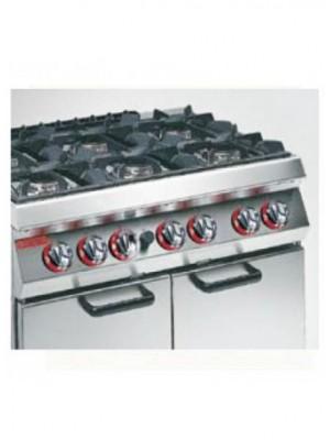 Κουζίνα Υγραερίου 6 εστιών με στατικό φούρνο ΜΕΓΑΛΟ Angelo Po