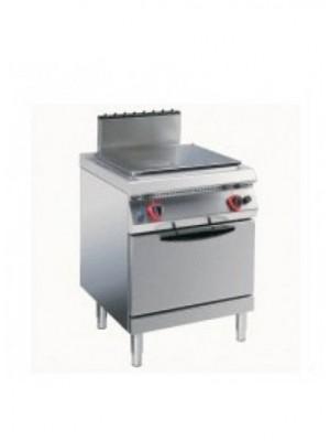Κουζίνα υγραερίου ενιαίας επιφάνειας με στατικό φούρνο υγραερίου 2/1 Angelo Po