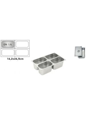 Δοχείο inox 1/4 GN 10Ycm