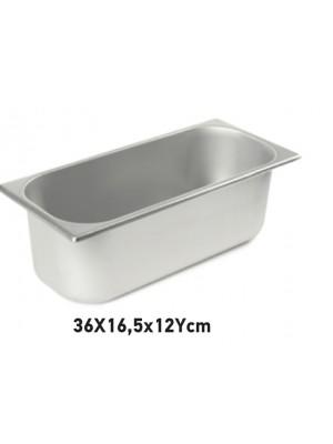 """Δοχείο inox \""""Παγωτού\"""" 36Χ16,5cm"""